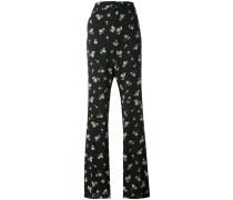 - floral print trousers - women
