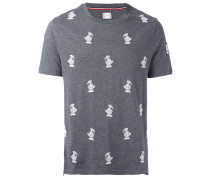 T-Shirt mit aufgestickten Vögeln
