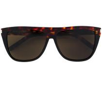 square frame flat top frame sunglasses