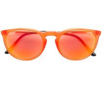 Metallische 'Pop Chic' Sonnenbrille mit rundem Gestell