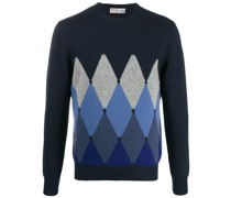 argyle check jumper