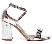 Hudson metallic block heel sandals