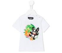 T-Shirt mit Hund-Print