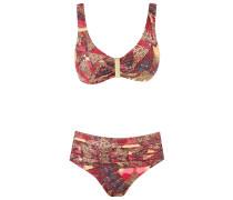 abstract print bikini set