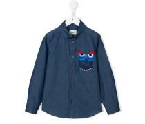 Button-down-Hemd mit Monster-Detail