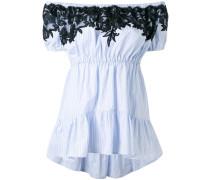 - Schulterfreie Bluse mit Spitzenapplikationen