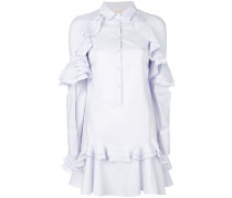 ruffle trim shirt dress