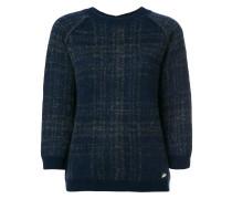 Karierter Pullover mit Knopfleiste