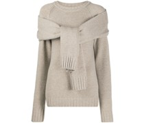 tie-front sweater