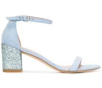 - Sandalen mit Blockabsatz und Glitzer-Effekt
