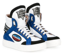 High-Top-Sneakers im Motorsport-Stil