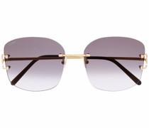 Eckige C Décor Sonnenbrille