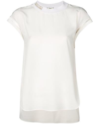T-Shirt mit Logo-Kragen