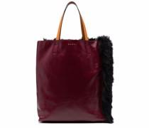 Handtasche mit Faux Fur
