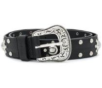 studded Western buckle belt