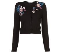 floral-embellished cardigan