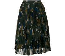 PLISSEE SKIRT CAMOUFLAGE COLOR