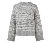 Melierter Pullover mit Stehkragen