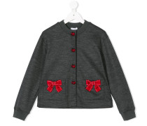ribbon embroidered cardigan