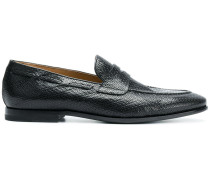 Texturierte Penny-Loafer