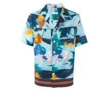 Hemd mit tropischem Print - men