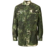 Hemdjacke mit Camouflage-Print