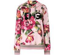 rose print hoodie