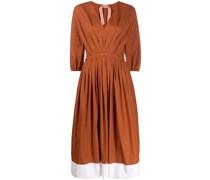 Kleid mit Kontrastsaum