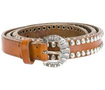 studded buckled belt