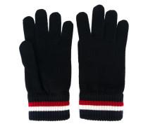 striped trim gloves