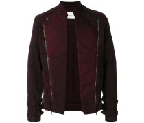 quilted open biker jacket