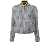 tiger print bomber jacket