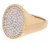 14kt Goldring mit Diamanten