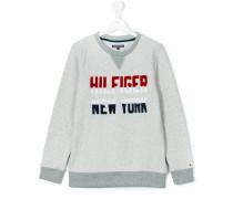 Sweatshirt mit Logo-Stickerei - kids
