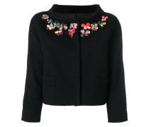 embellished neck crooped jacket