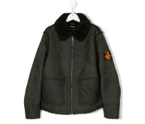 shearling zipped jacket