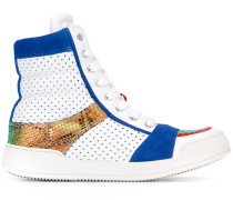 High-Top-Sneakers mit Lochmuster