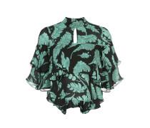 Cropped-Bluse mit gerüschten Details