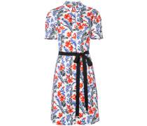 Florales Hemdkleid mit kurzen Ärmeln
