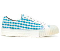 gingham check sneakers