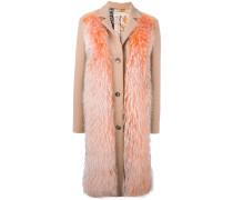 raccoon fur panel coat
