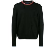Distressed-Pullover mit Rundhalsausschnitt