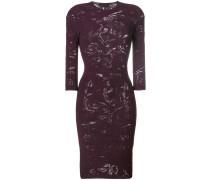 crewneck slim-fit dress