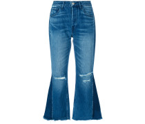 'W4 Higher Ground Gusset' Cropped-Jeans