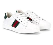 - Sneakers mit Webstreifen - kids - Leder/rubber