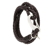 interlaced leather bracelet