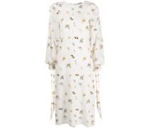 Kleid mit Aquarell-Print