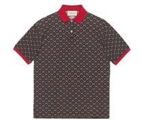 Oversized-Poloshirt mit Sternen