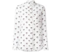 Seidenhemd mit Gänseblümchen-Print
