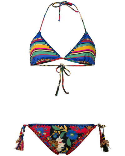 Bikini mit Print-Mix